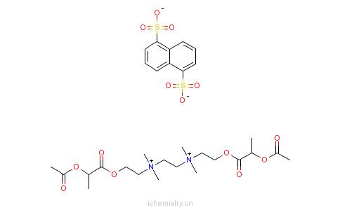 CAS:55077-30-0_萘二磺酸乙乳胆铵的分子结构