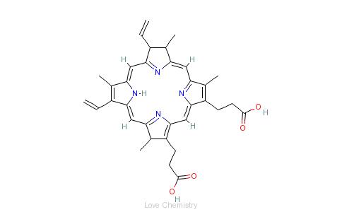 CAS:553-12-8_原卟啉的分子结构