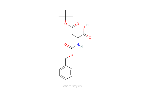 CAS:554-55-2_N-苄氧羰基-L-天门冬氨酸 4-叔丁酯的分子结构