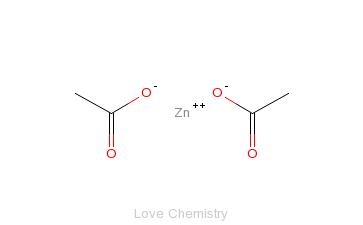 CAS:557-34-6_醋酸锌的分子结构