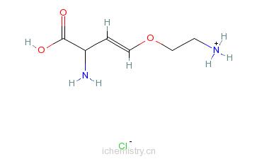 CAS:55720-26-8_(S)-反-2-氨基-4-(2-氨基乙氧基)-3-丁烯酸盐酸盐的分子结构