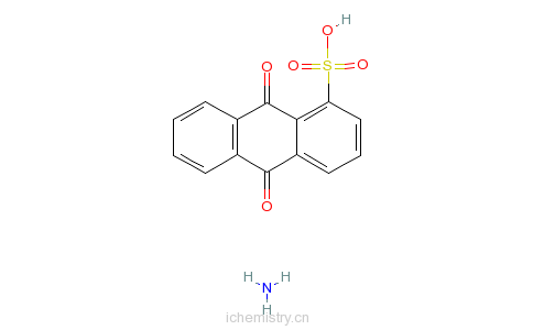 CAS:55812-59-4_蒽醌-1-磺酸铵的分子结构