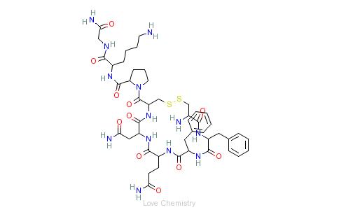 CAS:56-59-7_苯赖加压素的分子结构