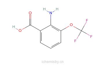 CAS:561304-41-4_2-氨基-3-(三氟甲氧基)苯甲酸的分子结构
