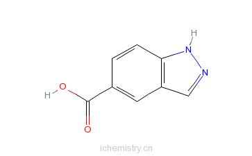 CAS:561700-61-6_5-羧基-1H-吲唑的分子结构
