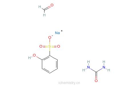 CAS:56619-23-9_羟基萘磺酸单钠盐与甲醛和尿素的聚合物的分子结构