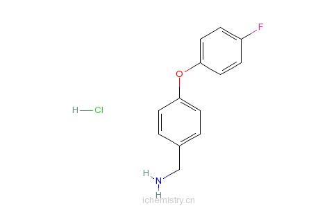 CAS:568565-86-6_4-(4-氟苯氧基)苄胺盐酸盐的分子结构