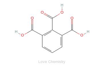 CAS:569-51-7_1,2,3-苯三甲酸的分子结构