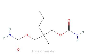 CAS:57-53-4_甲丙氨酯的分子结构