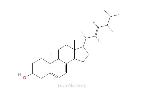 CAS:57-87-4_麦角固醇的分子结构
