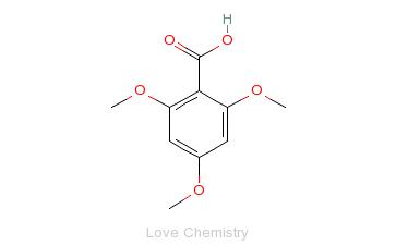 CAS:570-02-5_2,4,6-三甲氧基苯甲酸的分子结构
