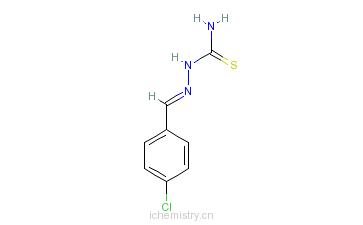 CAS:5706-80-9_4-氯苯甲醛缩氨基硫脲的分子结构