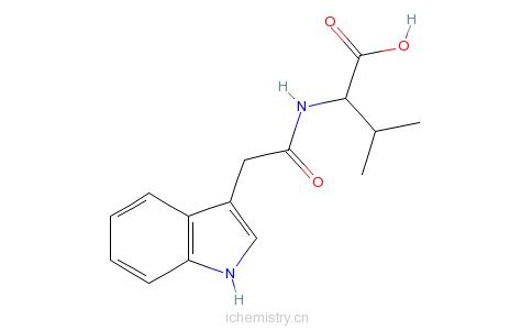 CAS:57105-42-7_N-(3-吲哚乙酰基)-L-缬氨酸的分子结构