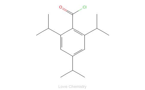 CAS:57199-00-5_2,4,6-三异丙基苯甲酰氯的分子结构