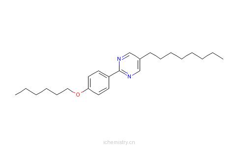 CAS:57202-48-9_2-[4-正(己氧基)苯基]-5-正辛基嘧啶的分子结构