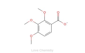 CAS:573-11-5_2,3,4-三甲氧基苯甲酸的分子结构