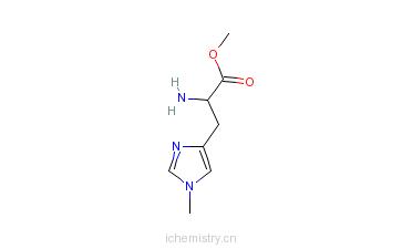 CAS:57519-09-2_N'-甲基-L-组氨酸甲酯的分子结构