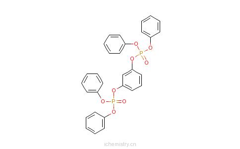 CAS:57583-54-7_间苯二酚四苯基二磷酸酯的分子结构