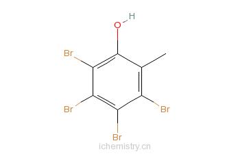 CAS:576-55-6_3,4,5,6-四溴邻甲酚的分子结构