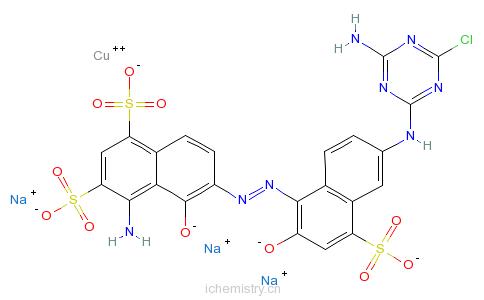 CAS:57781-96-1_[4-氨基-6-[[6-[(4-氨基-6-氯-1,3,5-三嗪-2-基)氨基]-2-羟基-4-磺基-1-萘基]偶氮]-5-羟基-1,3-萘二磺酸根合的分子结构