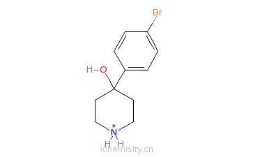 CAS:57988-58-6_4-(对溴苯)-4-羟基哌啶的分子结构