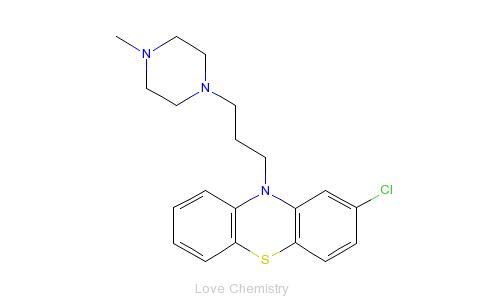 CAS:58-38-8_奋乃静的分子结构