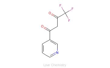 CAS:582-73-0_4,4,4-三氟-1-(吡啶-3-基)-1,3-丁二酮的分子结构