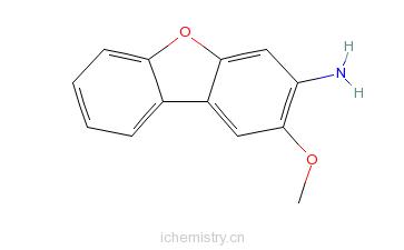 CAS:5834-17-3_2-甲氧基-3-二苯并呋喃胺的分子结构