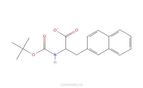 CAS:58438-04-3_Boc-3-(2-萘基)-L-丙氨酸的分子结构