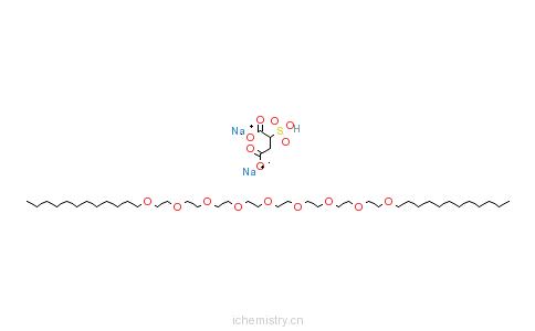 CAS:58450-52-5_十二烷基四乙二醇醚-磺基琥珀酸二钠盐的分子结构