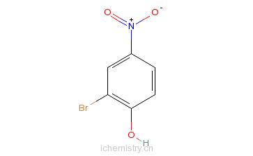 CAS:5847-59-6_2-溴-4-硝基苯酚的分子结构