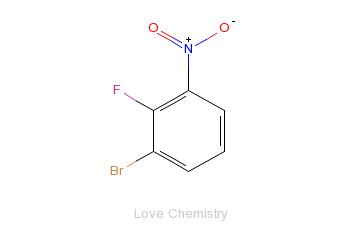 CAS:58534-94-4_2-氟-3-溴硝基苯的分子结构