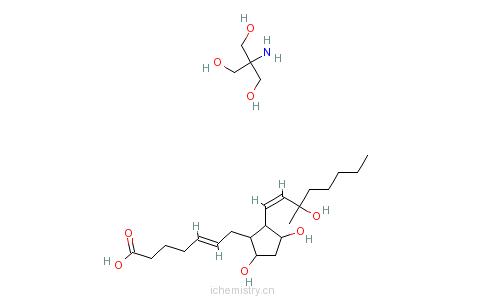 CAS:58551-69-2_卡前列素氨基丁三醇的分子结构