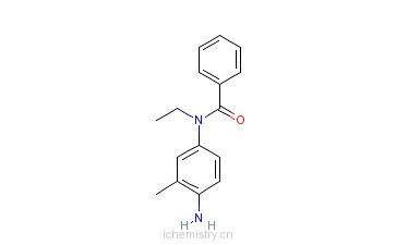 CAS:5856-00-8_N-(4-氨基-3-甲基苯基)-N-乙基苯甲酰胺的分子结构