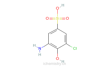 CAS:5857-94-3_3-氨基-5-氯-4-羟基苯磺酸的分子结构