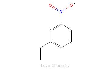 CAS:586-39-0_3-硝基苯乙烯的分子结构