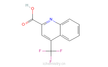 CAS:588702-67-4_4-三氟甲基喹啉-2-羧酸的分子结构