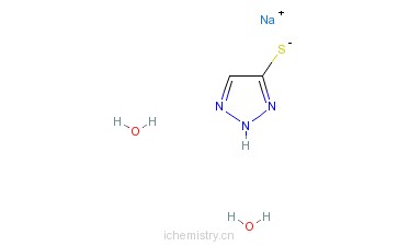 CAS:59032-27-8_5-巯基-1,2,3-三氮唑单钠盐的分子结构