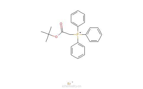 CAS:59159-39-6_(叔丁氧基羰基甲基)三苯基溴化�l的分子结构