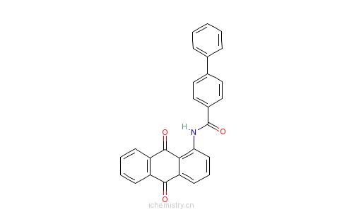 CAS:5924-63-0_N-(9,10-二氢-9,10-二氧-1-蒽基)-(1,1'-联苯基)-4-甲酰胺的分子结构