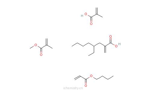 CAS:59372-10-0_2-甲基-2-丙烯酸与2-丙烯酸丁酯、2-丙烯酸-2-乙基己酯和2-甲基-2-丙烯酸甲酯的聚合物的分子结构