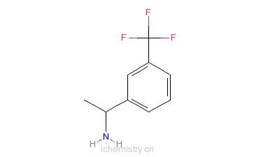 CAS:59382-36-4_1-(3-三氟甲基苯基)乙胺的分子结构