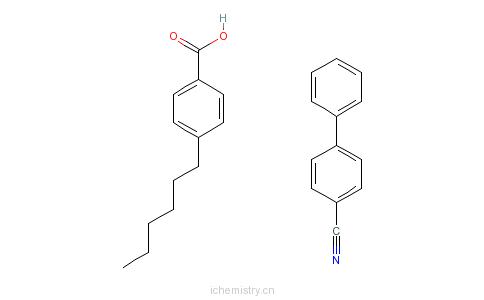CAS:59443-81-1_4'-己基苯甲酸4-氰基联苯酯的分子结构