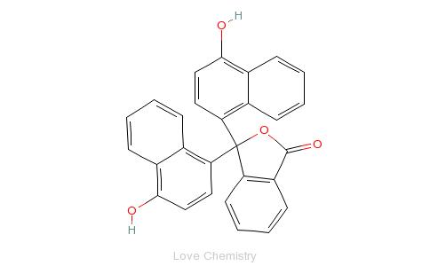 CAS:596-01-0_1-萘酚酞的分子结构