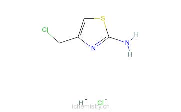 CAS:59608-97-8_2-氨基-4-氯甲基噻唑盐酸盐的分子结构