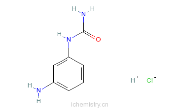 CAS:59690-88-9_间氨基苯脲盐酸盐的分子结构