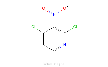 CAS:5975-12-2_2,4-二氯-3-硝基吡啶的分子结构
