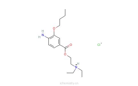 CAS:5987-82-6_盐酸丁氧普鲁卡因的分子结构
