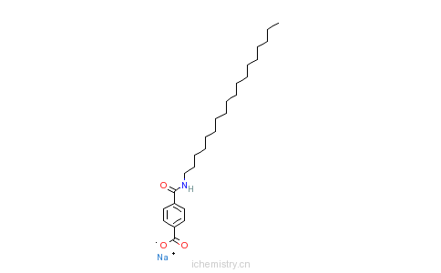 CAS:5994-45-6_4-[(十八烷基氨基)羰基]苯甲酸的分子结构