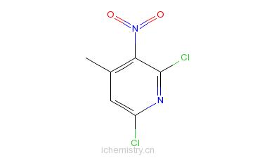 CAS:60010-03-9_2,6-二氯-4-甲基-3-硝基吡啶的分子结构
